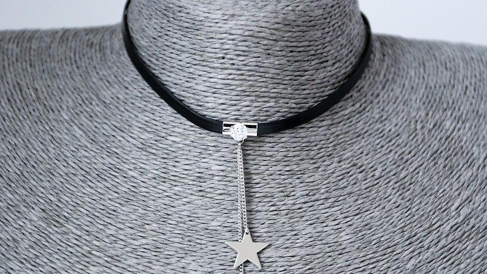 Collier chocker avec étoiles