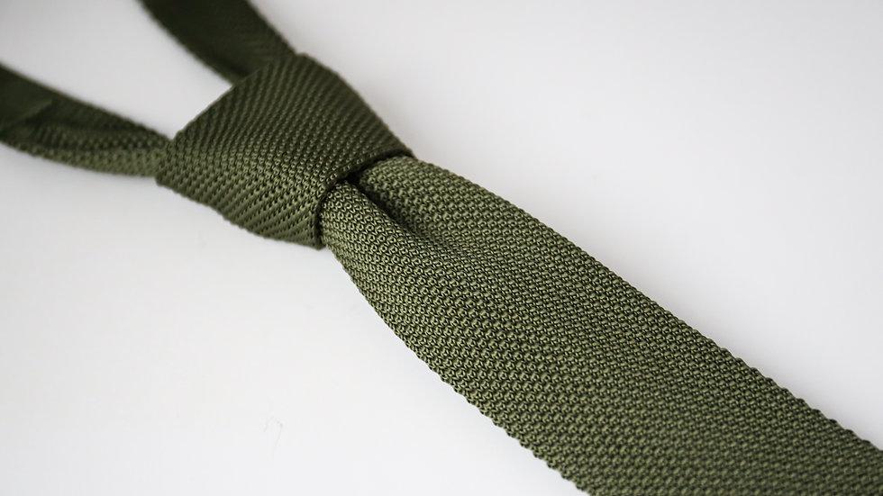 Cravate tricot unies