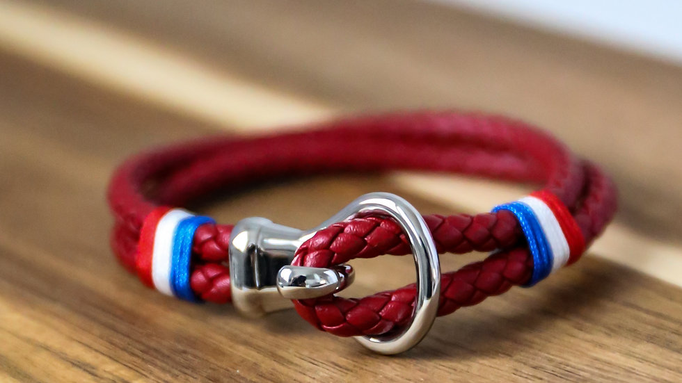 Bracelet cuir avec crochet