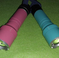 Teal and Pink Forest Flashlights