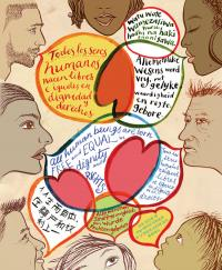 Visit the Teaching Tolerance website for dozens of free posters available for download. Print them out or save them on a drive, and then take them to your local printing shop to be enlarged!