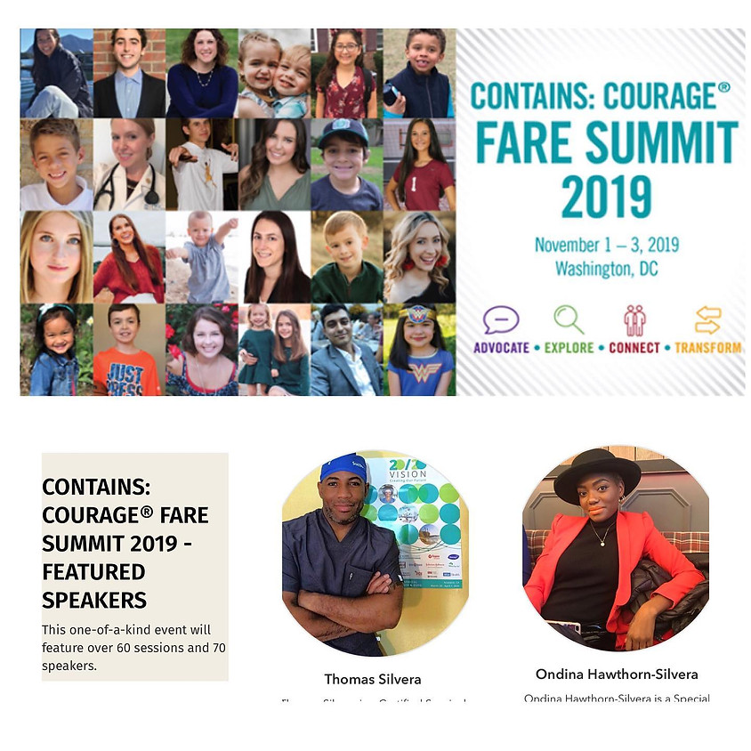 F.A.R.E Food Allergy Contains Courage Summit Novemer 1st - 3rd 2019 (ended)