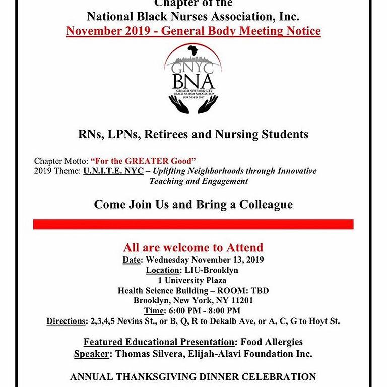 National Black Nurses Association today. Greater NYC BNA Chapter.