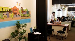 Coworking Recife com recepcionistas, atendimento personalizado, espaço empresarial. ambiente de coworking, salas de reunião, salas privativas, no bairro dos aflitos em recife.