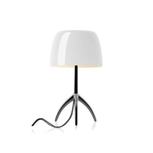 FOSCARINI Lampada da tavolo Lumiere piccola dimmerabile - cromo nero