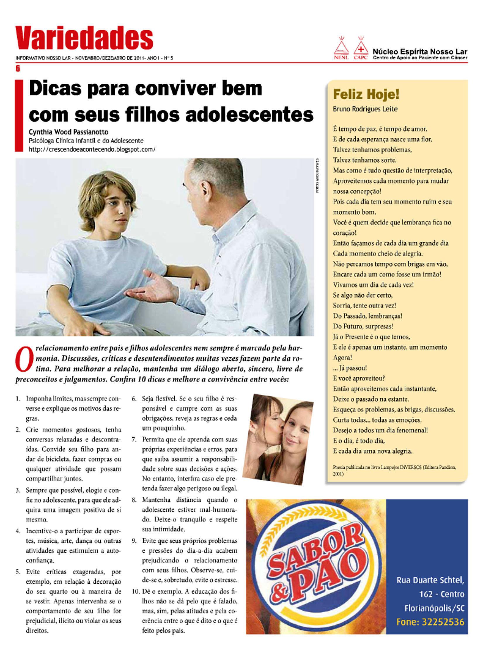 Informativo Nosso Lar - 2011