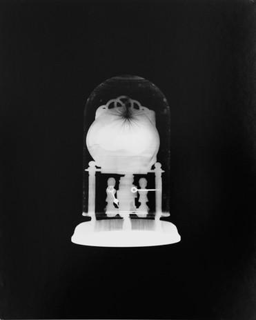 Carriage Clock, 2018 Photogram..$650 Framed