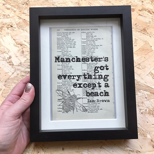 'Manchester's Got Everything...' Framed Book Page Print