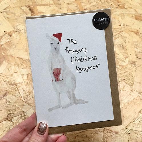 Christmas Kangaroo Card