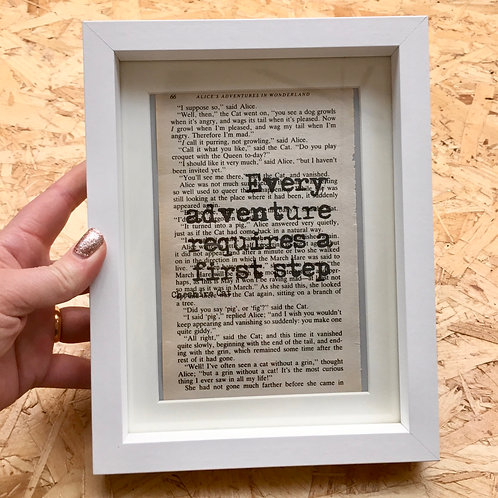 'Every Adventure...' Framed Book Page Print