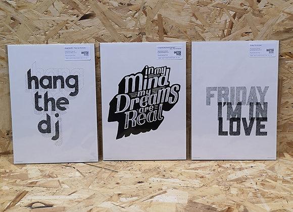 Song Lyric A4 Prints