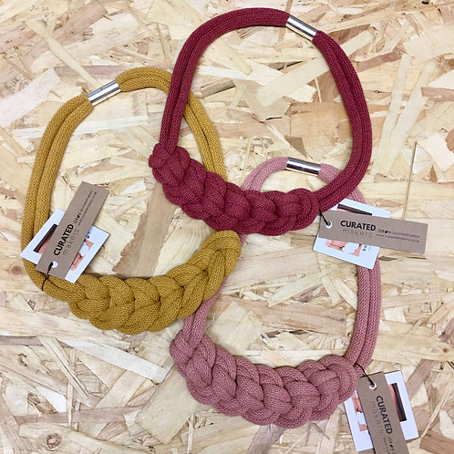 Knotted Cotton Necklace