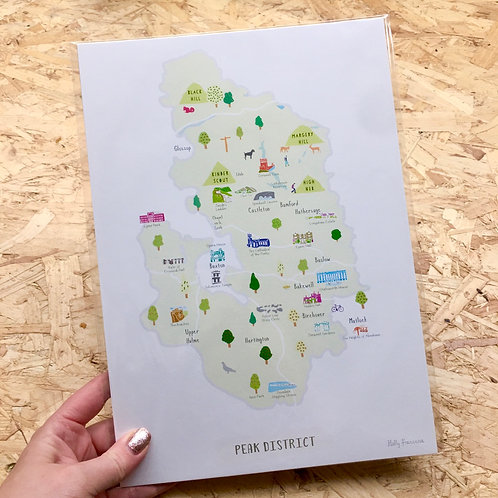 Peak District Map Print