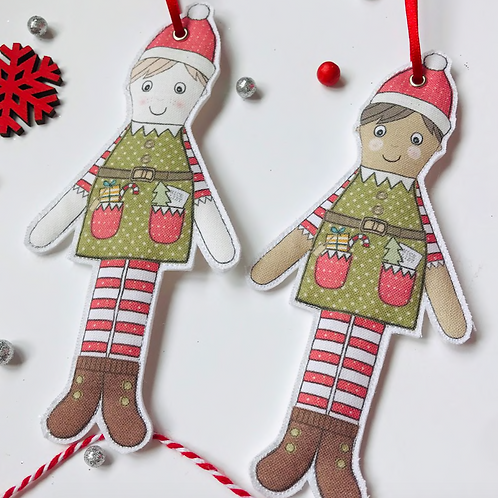 Fabric Elf Decoration