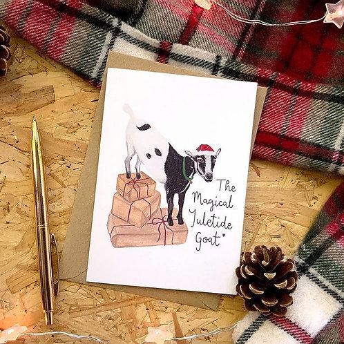 Yuletide Goat Card