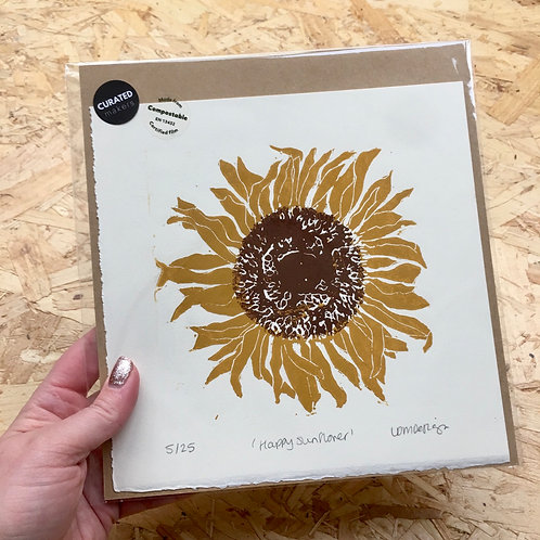 Happy Sunflower Print