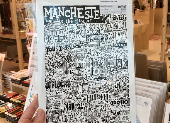 Manchester Typography Print