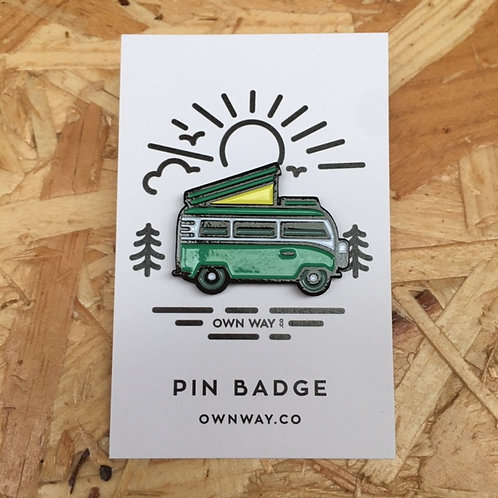Camper Van Pin Badge