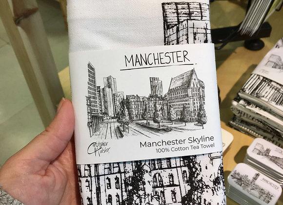 Manchester Skyline Tea Towel