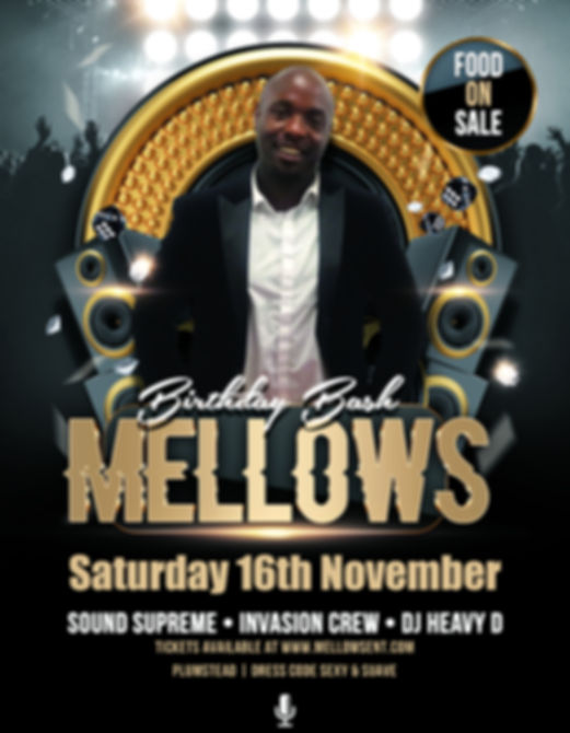Mellow Birthday Bash 2019 Flyer - Social