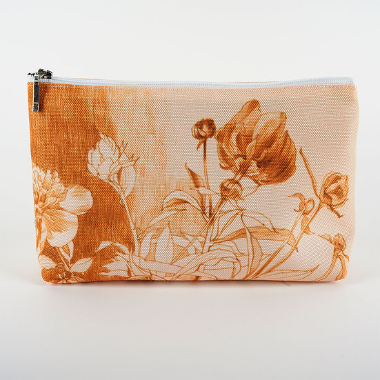 Cosmetic bag, gold