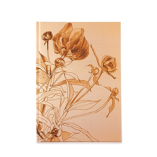 Notizbuch / Skizzenbuch, A5, Gold