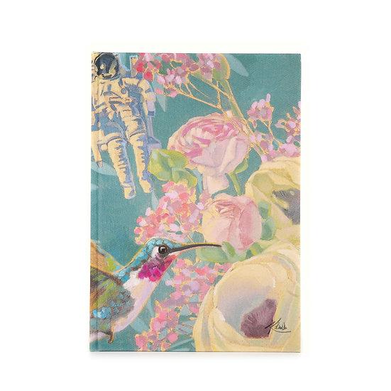Notizbuch / Skizzenbuch, A5, Astronaut und Kolibri