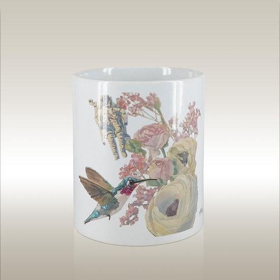 Keramiktasse Astronaut und Kolibri