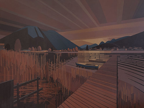 Blick auf den Tegernsee, 91 cm x 73 cm x 3,5 cm