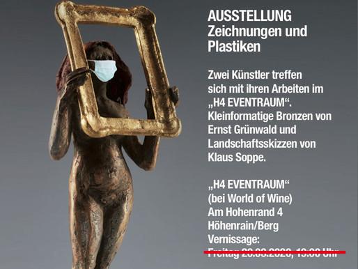 VERSCHOBEN! BERG / HÖHENRAIN, Ausstellung Ernst Grünwald / Klaus Soppe