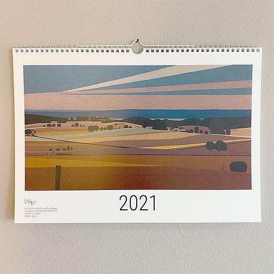 """Jahreskalender """"Formen und Schatten"""" 2021 im Format DIN A3"""