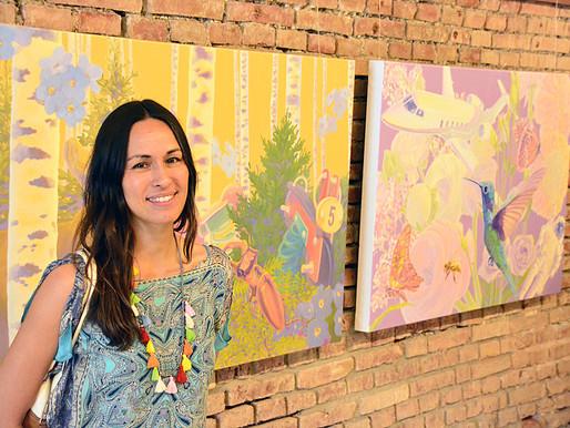 29.7.2018 – Sandra Kolondam bei der Bernrieder Kunstausstellung