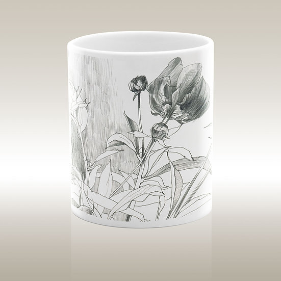 """Art-on-a-mug – Künstler-Keramiktasse """"Pfingstrosen 1"""""""
