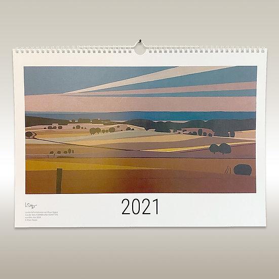Jahreskalender, Formen & Schatten, DIN A3