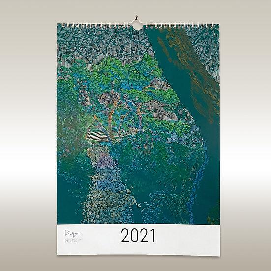 Jahreskalender 2021, Landschaften, DIN A3