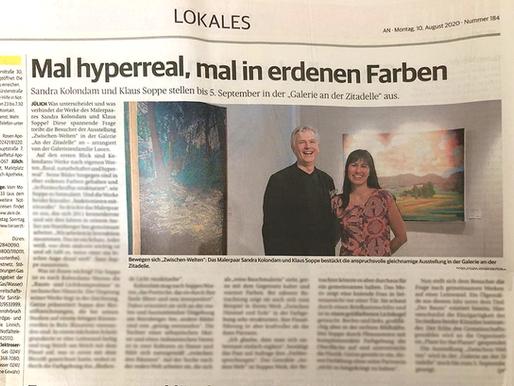 Pressebericht Aachener Nachrichten vom  10. August 2020