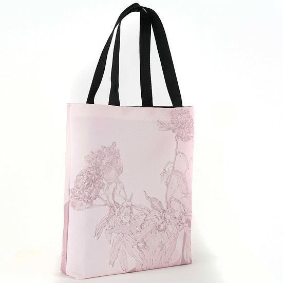 Hochwertige Shopper, Rose, 40 x 40 cm