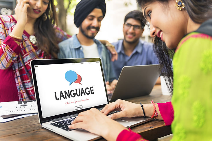 Online Language Learning Interface Conce