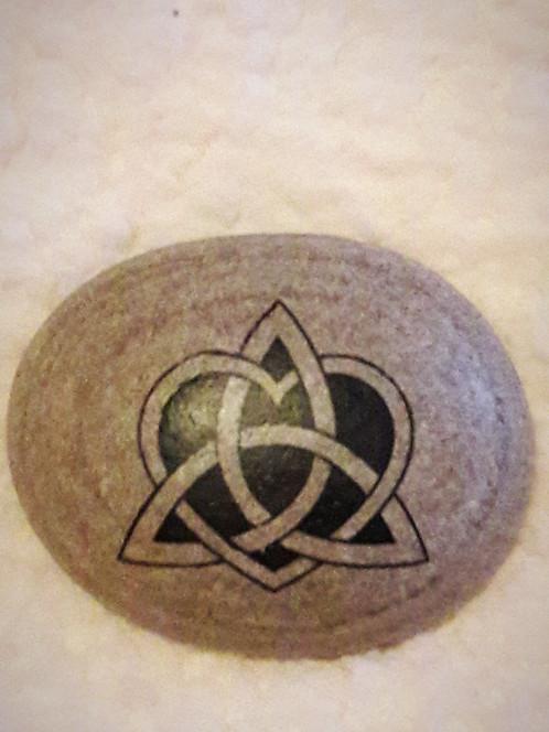Celtic Knot On Pebble