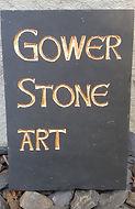 Gower stone Art slate sign
