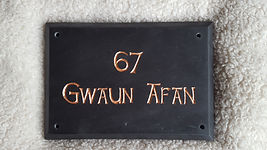 """10""""x7"""" large bevel edge Celtic Hand font with Copper gild"""