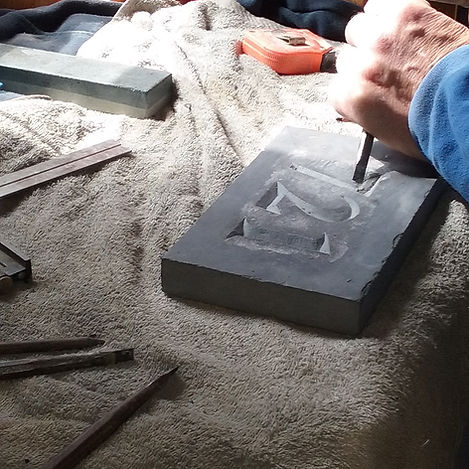 hand carving number