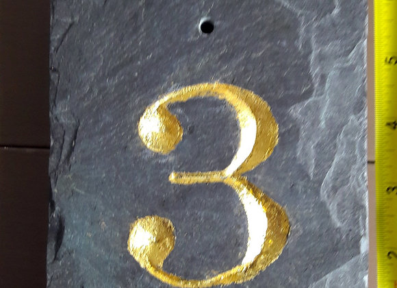 Slate House numbers (single digit)