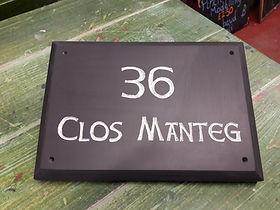 "10x7"" large bevel edge Celtic Hand font in Silver gild"