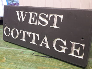 Welsh Slate sign times new roman Sterling silver