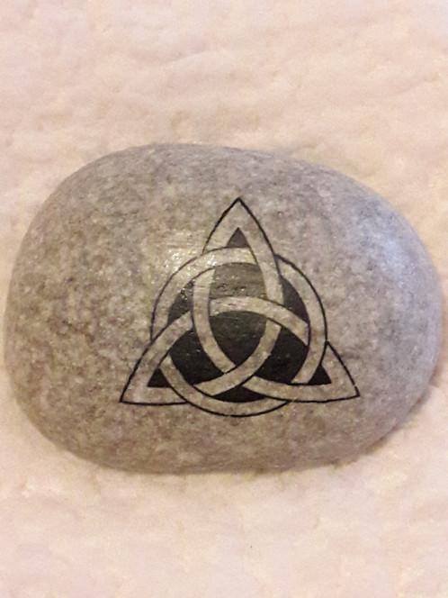 Celtic Love Knot On Pebble