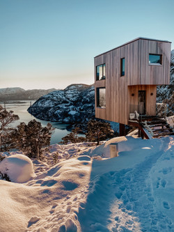 Tiny House Cabin im Winter
