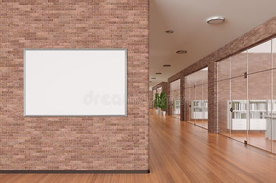 blank-poster-wall-modern-office-interior-clipping-path-around-banner-d-illustration-187001