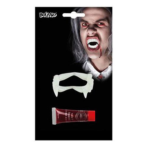 Set Vampiro denti e sangue
