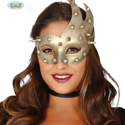Maschera Argento Borchie